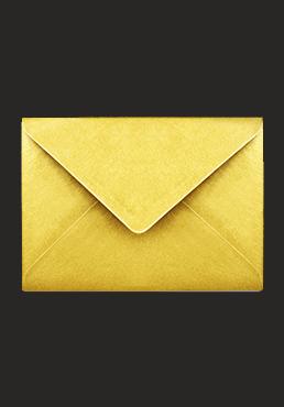 kuvert i guld